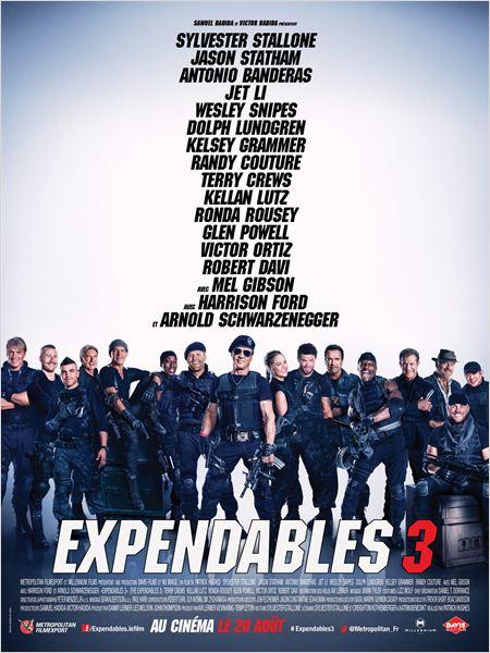 Sortie  : 20 Août 2014 Type : Action , Aventure Réalisateur : Patrick Hughes Avec : Sylvester Stallone, Jason Statham, Antonio Banderas ... Durée : 2H06